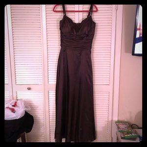 {Vintage}EUC European rich brown formal/prom dress